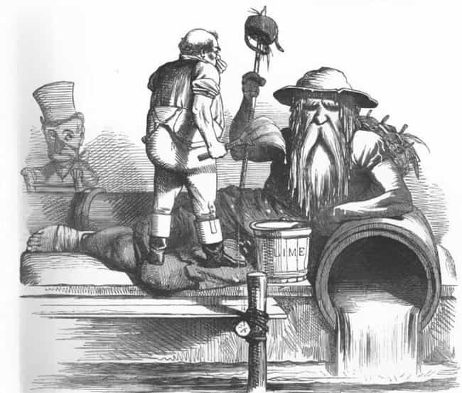 """""""Night Soil Men&quo... is listed (or ranked) 3 on the list 19th Century London Would Dump Human Feces Into The Same River They Drank From"""