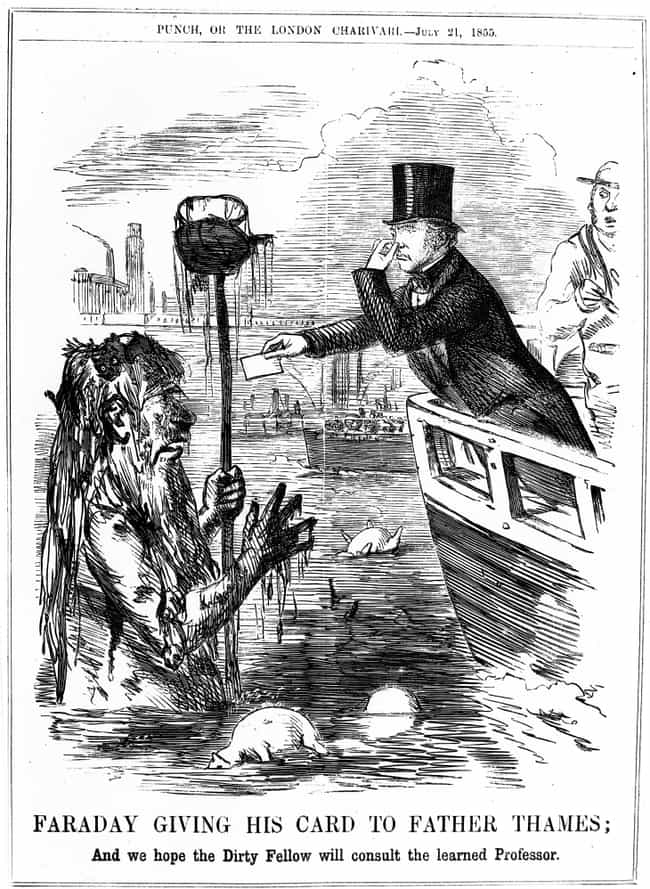 """The """"Great Stink&qu... is listed (or ranked) 2 on the list 19th Century London Would Dump Human Feces Into The Same River They Drank From"""