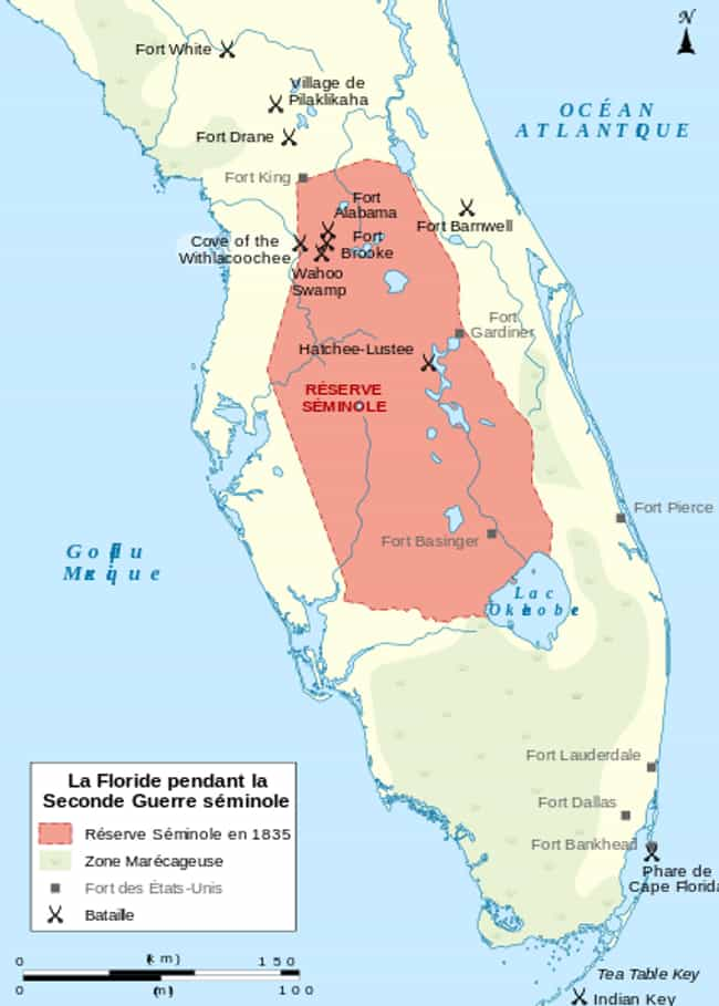 The Seminole Nation's Terr... is listed (or ranked) 3 on the list Things You Never Knew About The Alliance Between Seminole Indians And Escaped Slaves