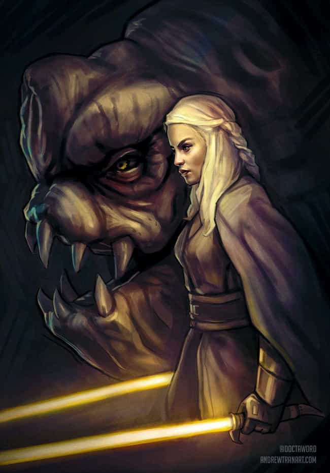 Jedi General Daenerys, M... is listed (or ranked) 3 on the list An Incredible Artist Created Throne Wars: Game Of Thrones Meets Star Wars