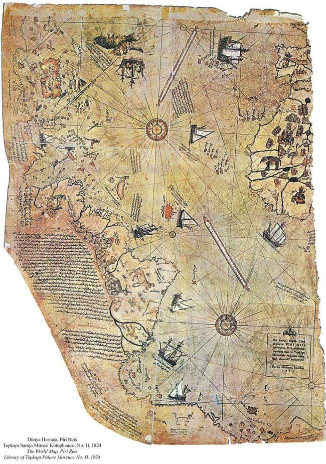 The Piri Reis Map Was Created  is listed (or ranked) 10 on the list Ancient Aliens May Have Found Actual Proof Of Extraterrestrial Life
