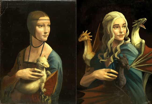 Lady With An Ermine is listed (or ranked) 1 on the list Brilliant Nerd Versions Of Historical Paintings