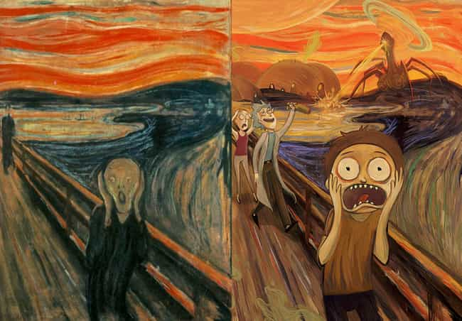 The Scream is listed (or ranked) 2 on the list Brilliant Nerd Versions Of Historical Paintings