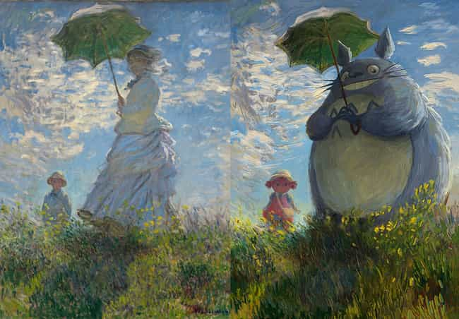 Woman With A Parasol is listed (or ranked) 3 on the list Brilliant Nerd Versions Of Historical Paintings