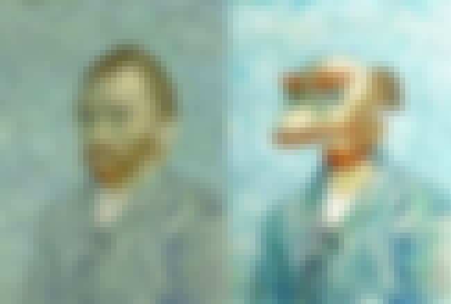 Van Gogh Self-Portrait is listed (or ranked) 4 on the list Brilliant Nerd Versions Of Historical Paintings