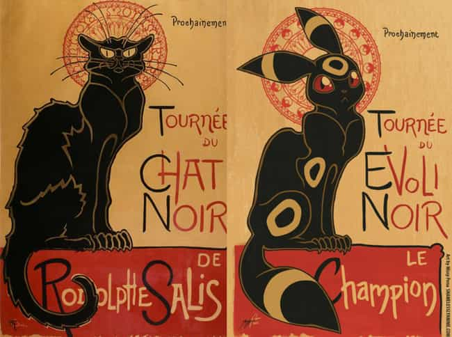 Le Chat Noir is listed (or ranked) 4 on the list Brilliant Nerd Versions Of Historical Paintings