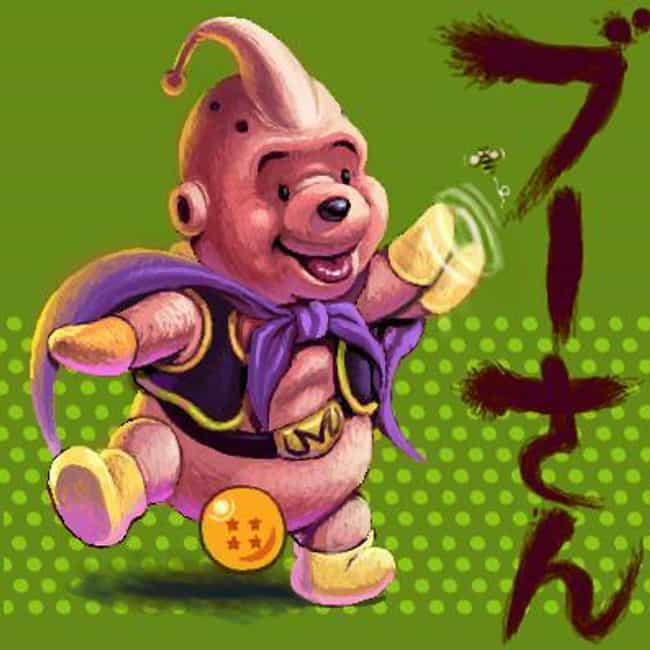 Winnie The Buu is listed (or ranked) 4 on the list Dragon Ball Z And Disney Is The Latest Mashup Fan Art Craze