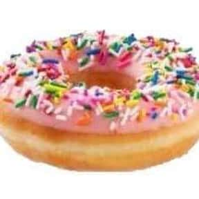 Strawberry Iced With Sprinkles is listed (or ranked) 14 on the list The Very Best Krispy Kreme Flavors