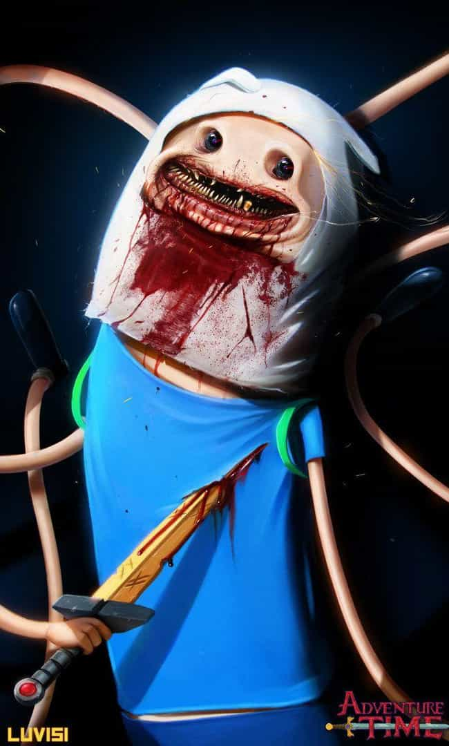 Nightmare Finn is listed (or ranked) 3 on the list Dan LuVisi's Wildly Disturbing Popped Culture Illustrations