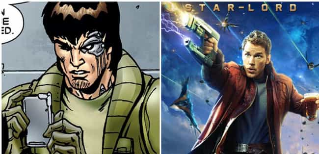 Star-Lord Went From Griz... is listed (or ranked) 3 on the list Things From 'Guardians Of The Galaxy' That Were Cut From The Movies