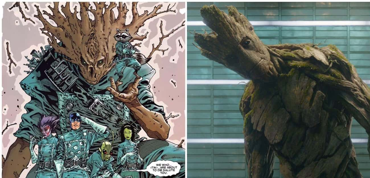 Groot's Adorable Catchphrase A is listed (or ranked) 1 on the list Things From 'Guardians of the Galaxy' That Were Cut From The Movies
