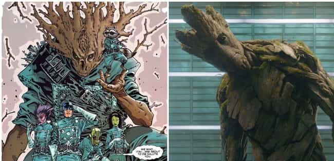 Groot's Adorable Catchphrase A... is listed (or ranked) 1 on the list Dark Things From Guardians Of The Galaxy That Were Cut From The Movies