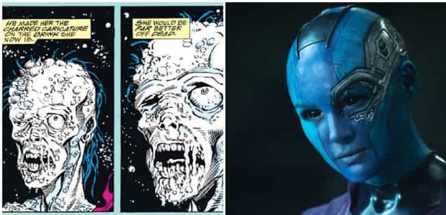 Nebula's Relationship With Tha... is listed (or ranked) 2 on the list Dark Things From Guardians Of The Galaxy That Were Cut From The Movies