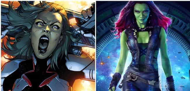 Gamora in comics v/s movie