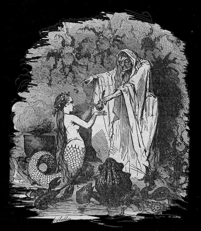The Little Mermaid Involves A ... is listed (or ranked) 1 on the list Macabre Mermaid Tales Pulled From The Darkest Depths Of The Sea