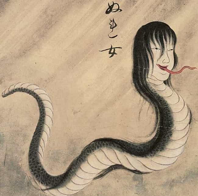 A Japanese Mermaid Has A Snake... is listed (or ranked) 2 on the list Macabre Mermaid Tales Pulled From The Darkest Depths Of The Sea