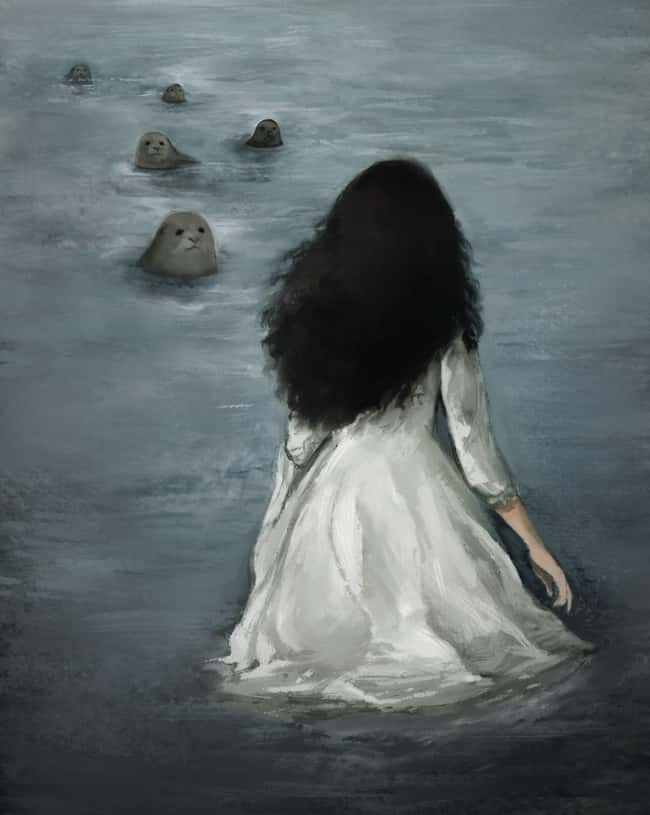 Irish Mermaids Are Seals Looki is listed (or ranked) 7 on the list Macabre Mermaid Tales Pulled From The Darkest Depths Of The Sea