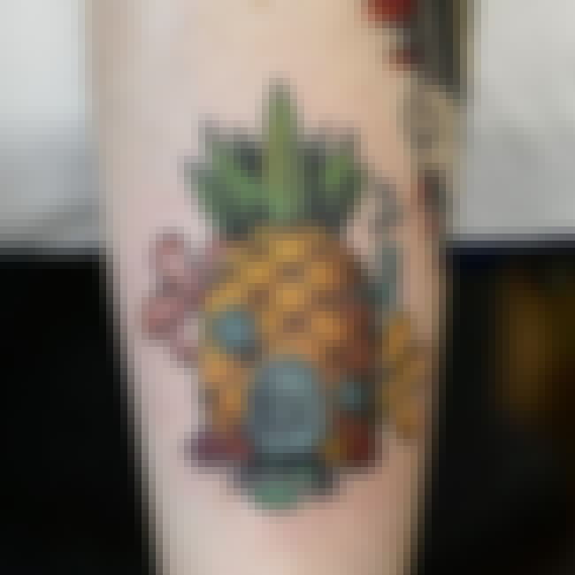 Who Lives In A Pineapple Under... is listed (or ranked) 1 on the list Totally Awesome Nicktoons Tattoos Your Inner Child Will Love