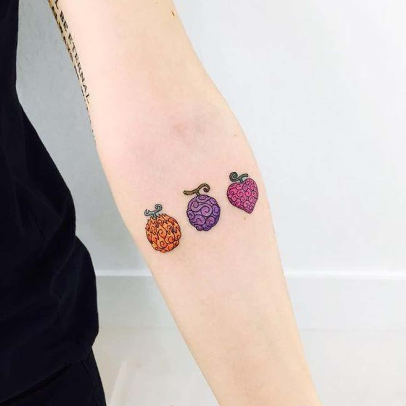 These Nondescript Berries Mean is listed (or ranked) 4 on the list 22 Subtle Anime Tattoos That Cleverly Reference Anime Series