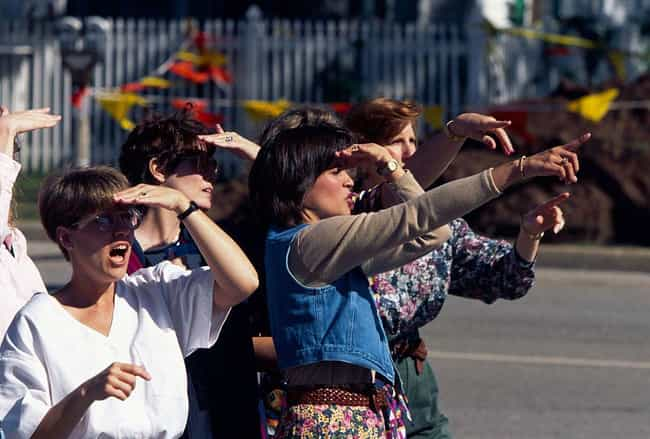 Onlookers Stand In Shock... is listed (or ranked) 3 on the list Photos From The Aftermath Of The Oklahoma City Bombing