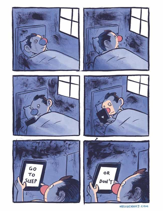 Sleep is listed (or ranked) 2 on the list These 19 Comics From NHOJ Are WAY Too Accurate