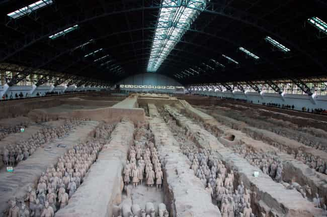 The Emperor Built The Army Bec... is listed (or ranked) 1 on the list Fascinating Facts About China's Terracotta Army