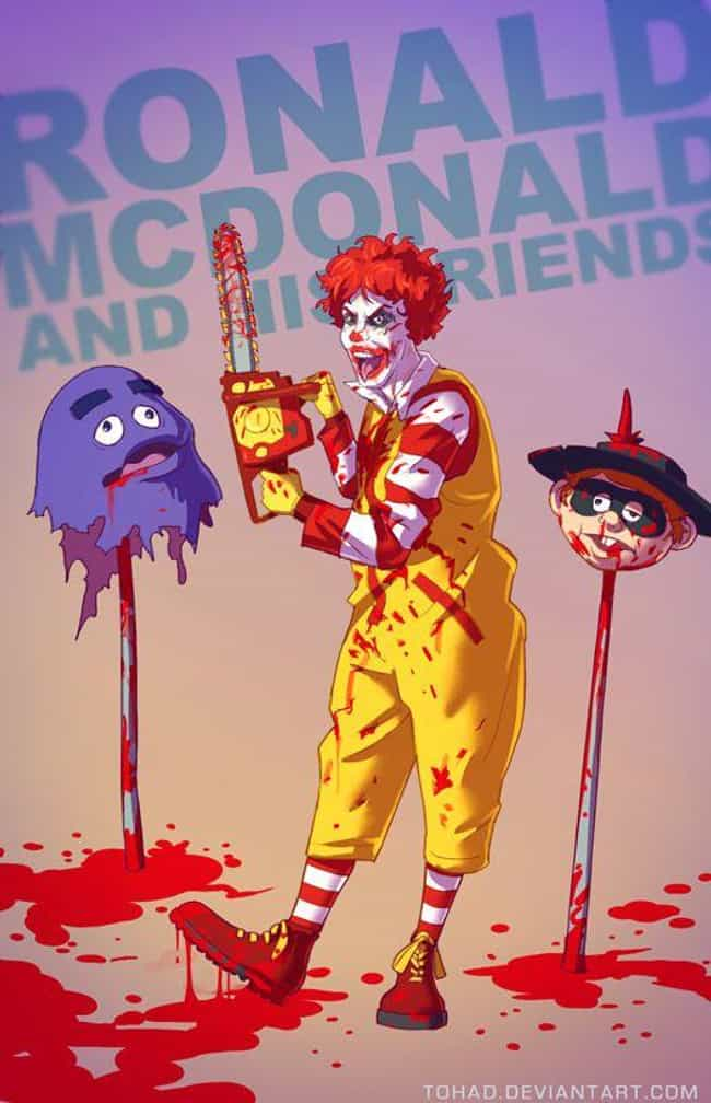 Ronald McDonald & Hi... is listed (or ranked) 3 on the list Tohad Brings Out The Darker Side Of Popular Characters
