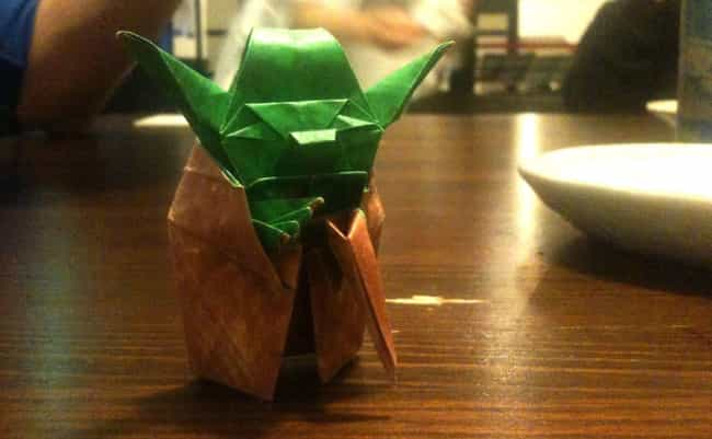 A Multicolored Master Yoda is listed (or ranked) 2 on the list Force-Awakening Star Wars Origami That Only Jedi Masters Can Pull Off
