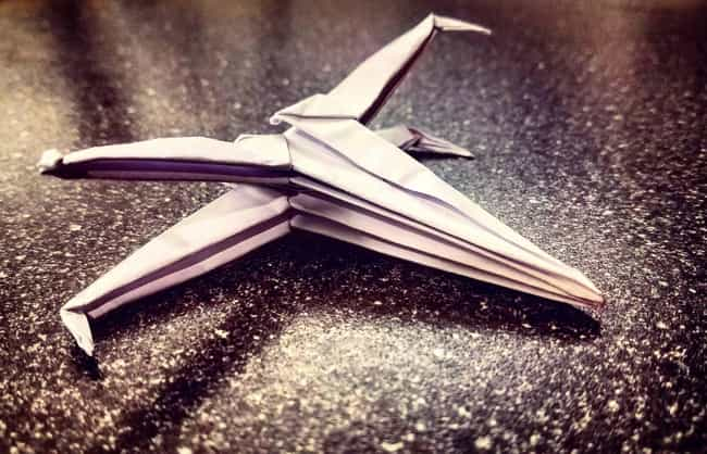 An Expertly Folded X-Wing Figh... is listed (or ranked) 4 on the list Force-Awakening Star Wars Origami That Only Jedi Masters Can Pull Off