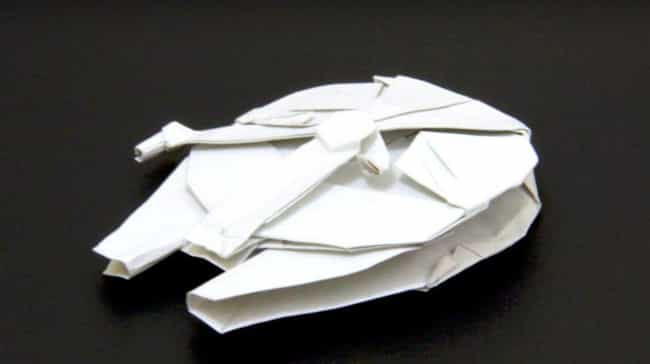 A Delicately Crafted Millenniu... is listed (or ranked) 3 on the list Force-Awakening Star Wars Origami That Only Jedi Masters Can Pull Off