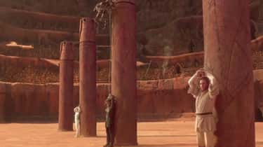 The Way The Protagonists Are Chained Up On Geonosis Represents Anakin's Conflicting Loyalties