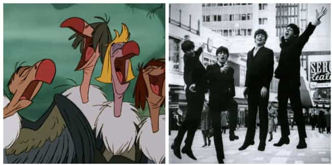 The Vultures In 'The Jungl... is listed (or ranked) 4 on the list Famous Cartoon Characters Whose Appearances Were Based On Real People
