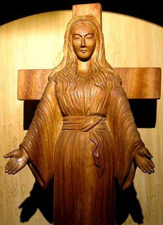 The Akita Mary With Mysterious... is listed (or ranked) 1 on the list Real Instances Of Religious Statues Gushing Blood