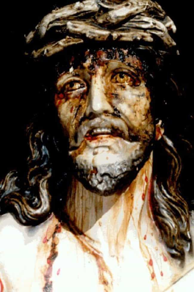 The Cochabamba Christ Who Shed... is listed (or ranked) 2 on the list Real Instances Of Religious Statues Gushing Blood