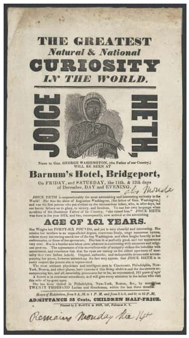He Bought A Slave And Claimed  is listed (or ranked) 1 on the list 14 Incredible Facts About American Showman P.T. Barnum
