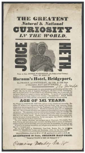 He Bought A Slave And Claimed ... is listed (or ranked) 1 on the list 14 Incredible Facts About American Showman P.T. Barnum