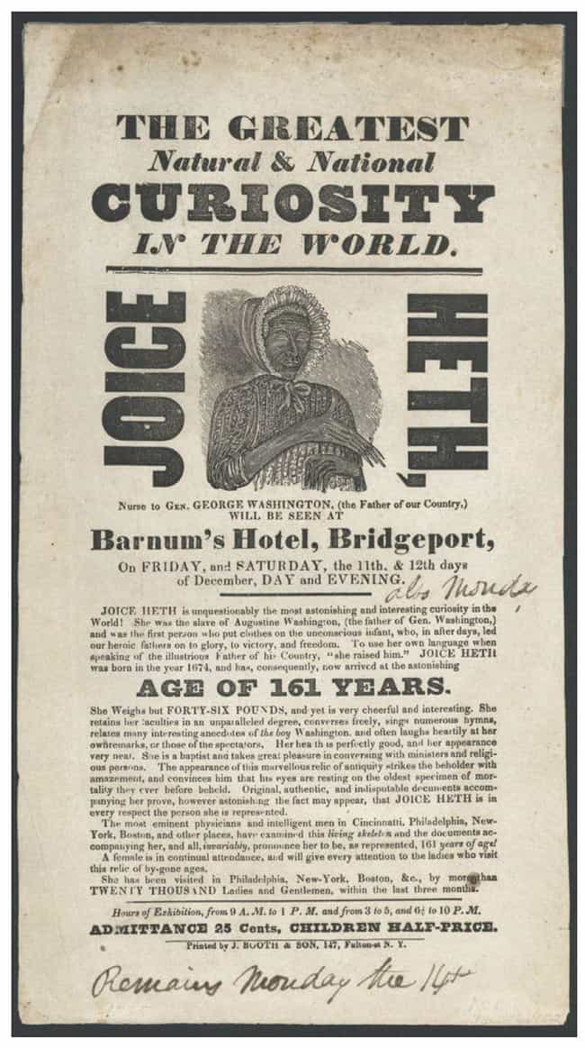 He Bought A Slave And Cl... is listed (or ranked) 1 on the list 14 Incredible Facts About American Showman P.T. Barnum