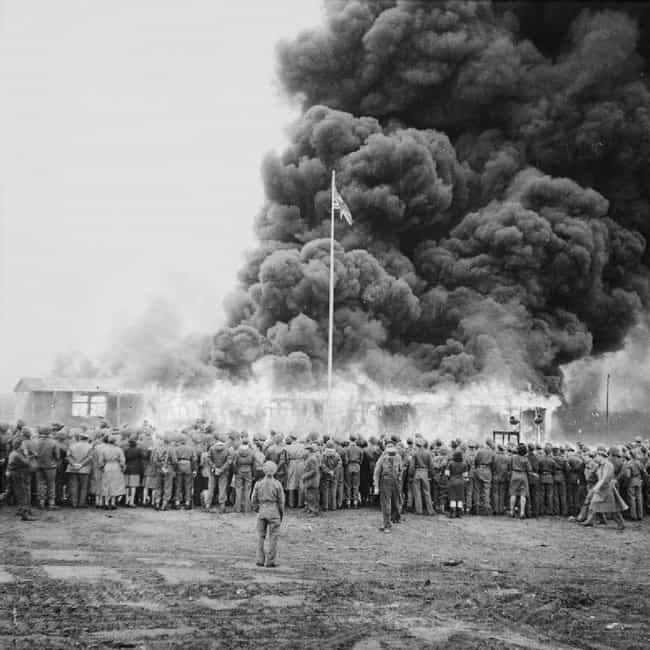 The Burning Of The Last ... is listed (or ranked) 1 on the list The Famous Photo That Captured The Moment The Holocaust Was Finally Over