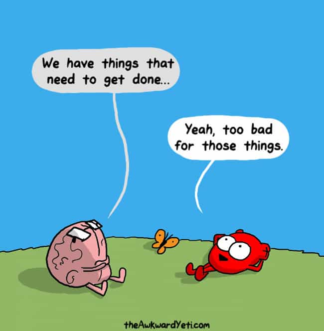Lazy Day is listed (or ranked) 4 on the list 20+ Hilarious Web Comics From Awkward Yeti That Get Way Too Real