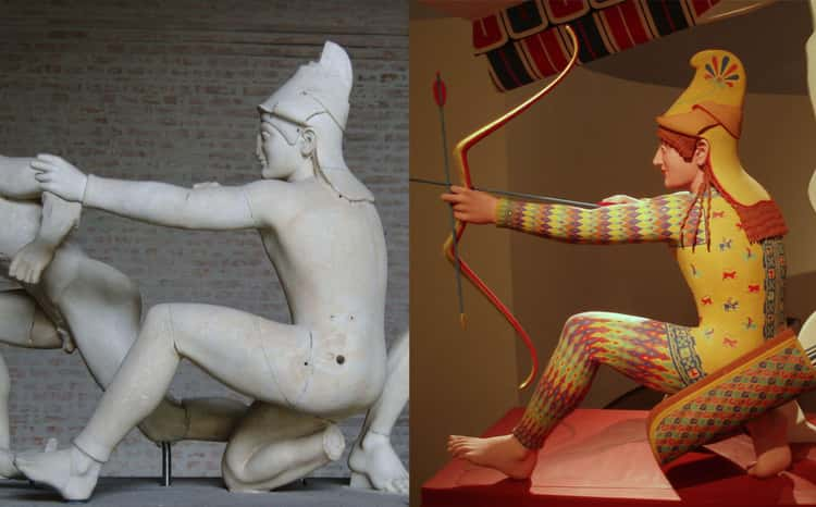 """The Reproduction Of The """"Aphaia Trojan Archer"""" Dating Back To 505–500 BCE, Greece"""