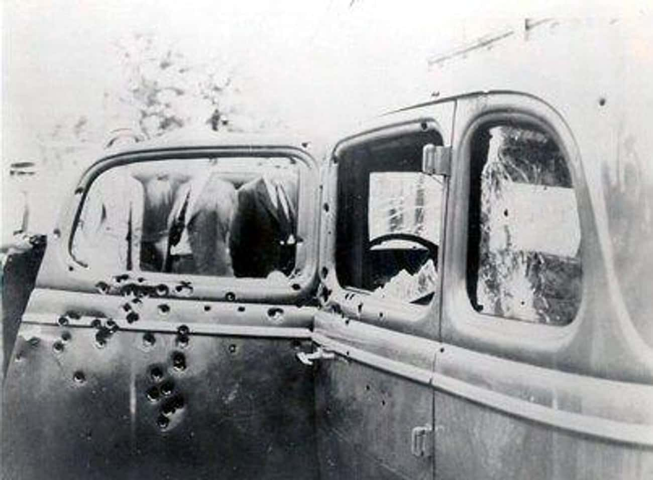 Bonnie and Clyde's Ford V- is listed (or ranked) 1 on the list This Gruesome Photo Shows The Moment Bonnie And Clyde Were Riddled With Bullets