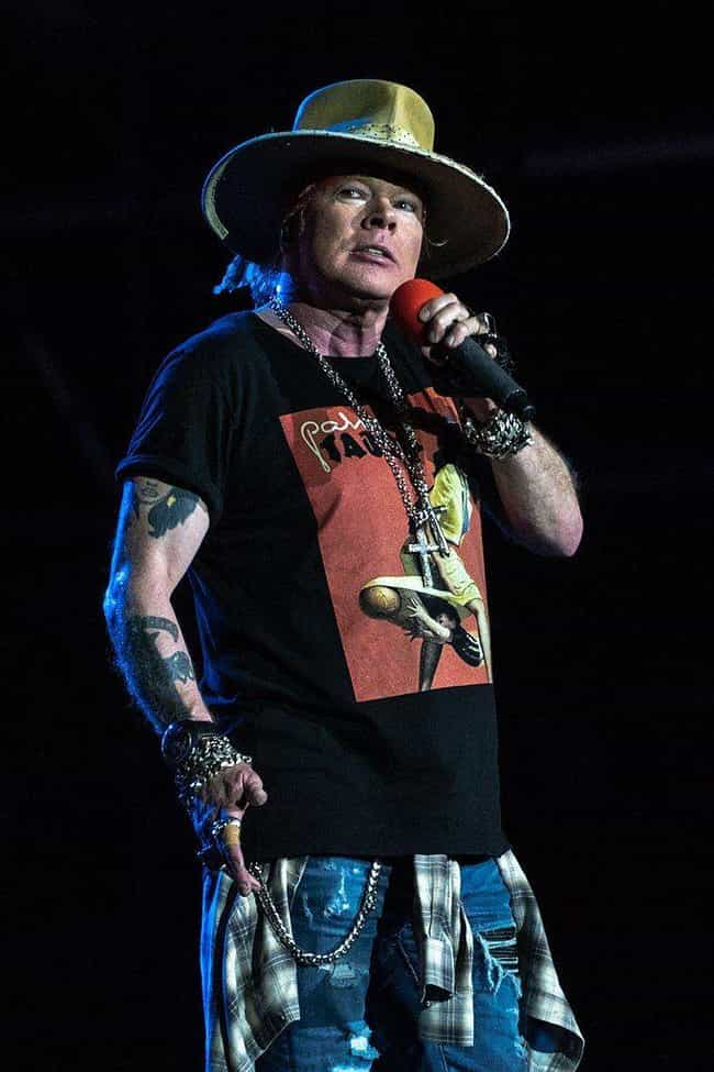 Axl Rose Slept With His Bandma... is listed (or ranked) 3 on the list Absolutely Unhinged Behind-The-Scenes Guns N' Roses Stories