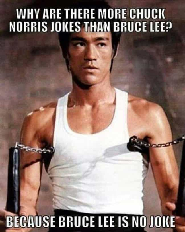 Bruce Lee - No Laughing Matter is listed (or ranked) 3 on the list Funniest Martial Arts Memes Only Bruce Lee Fans Will Get