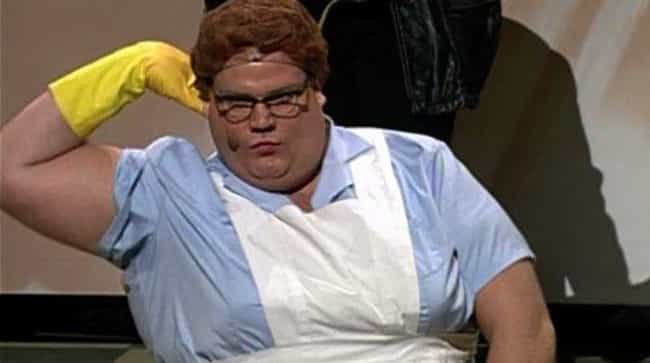He Crashed The SNL Writers'... is listed (or ranked) 2 on the list Hilarious And Disgusting Chris Farley Stories That Will Make You Laugh And Puke