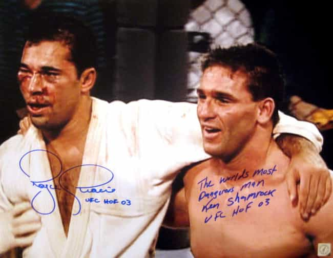 Royce Gracie vs. Ken Shamrock ... is listed (or ranked) 4 on the list Famous Real Fights That Shaped Martial Arts