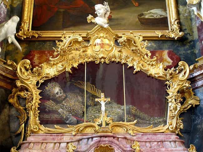 The Remains Of Saint Hya... is listed (or ranked) 2 on the list These Gross Photos Show The Weird World Of Grisly Catholic Relics