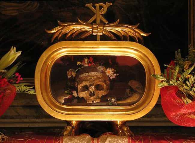 The Skull Of Saint Valen... is listed (or ranked) 4 on the list These Gross Photos Show The Weird World Of Grisly Catholic Relics