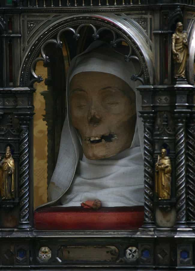 The Mummified Head Of Sa... is listed (or ranked) 1 on the list These Gross Photos Show The Weird World Of Grisly Catholic Relics