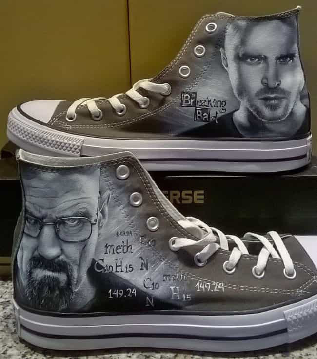 Breaking Bad is listed (or ranked) 1 on the list This Artist Turns Basic AF Sneakers Into Nerdy Masterpieces