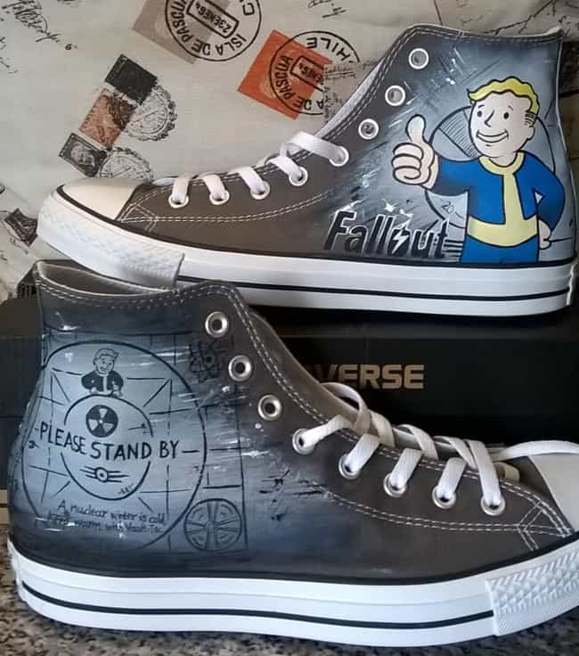 Fallout is listed (or ranked) 2 on the list This Artist Turns Basic AF Sneakers Into Nerdy Masterpieces